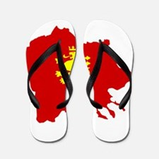 Macedonia Lion Flag and Map Flip Flops