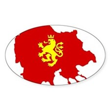 Macedonia Lion Flag and Map Decal