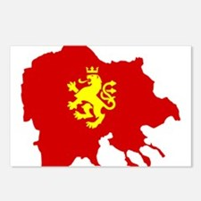 Macedonia Lion Flag and Map Postcards (Package of