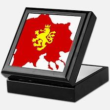 Macedonia Lion Flag and Map Keepsake Box