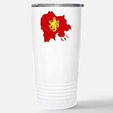 Macedonia Lion Flag and Map Travel Mug