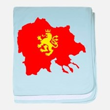 Macedonia Lion Flag and Map baby blanket