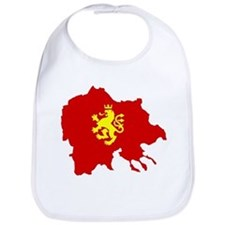 Macedonia Lion Flag and Map Bib