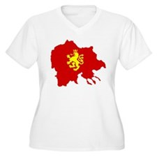 Macedonia Lion Flag and Map T-Shirt