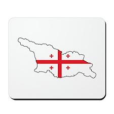 Flag Map of Georgia Mousepad
