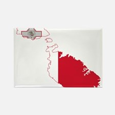 Malta Flag and Map Rectangle Magnet