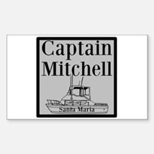 Personalized Captain Sticker (Rectangle 10 pk)