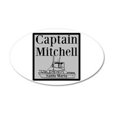 Personalized Captain Wall Decal