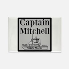 Personalized Captain Rectangle Magnet