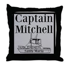 Personalized Captain Throw Pillow
