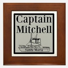 Personalized Captain Framed Tile