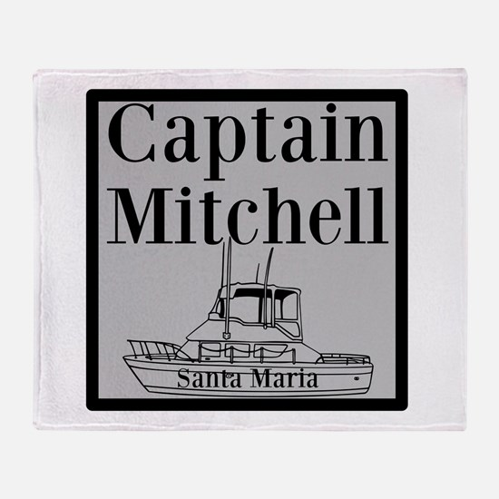 Personalized Captain Throw Blanket