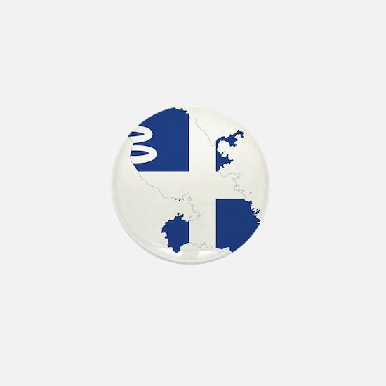 Martinique Flag and Map Mini Button