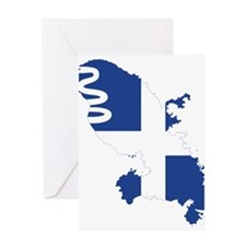 Martinique Flag and Map Greeting Card