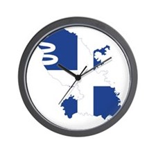 Martinique Flag and Map Wall Clock