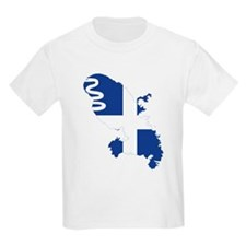 Martinique Flag and Map T-Shirt
