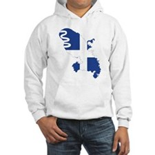 Martinique Flag and Map Hoodie
