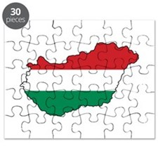 Flag Map of Hungary Puzzle