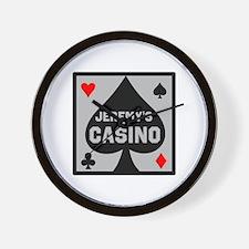 Personalized Casino Wall Clock