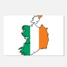 Flag Map of Ireland Postcards (Package of 8)