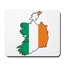 Flag Map of Ireland Mousepad