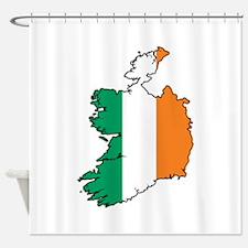 Flag Map of Ireland Shower Curtain