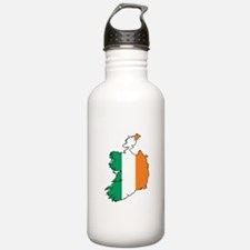 Flag Map of Ireland Water Bottle