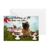 Happy birthday cairn terrier Greeting Cards