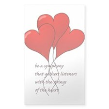 Be A Symphony Hearts Decal