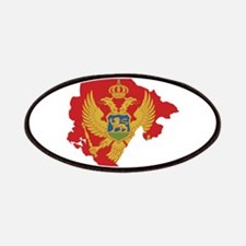 Montenegro Flag and Map Patches
