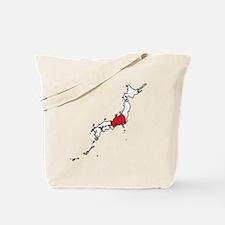 Flag Map of Japan Tote Bag