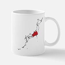 Flag Map of Japan Mug