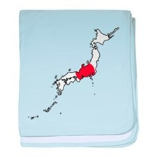 Flag Map of Japan baby blanket