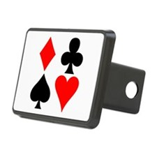 Playing Card Suits Hitch Cover