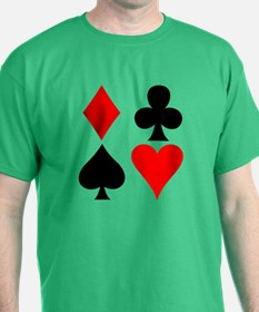 Playing Card Suits T-Shirt