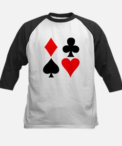 Playing Card Suits Kids Baseball Jersey