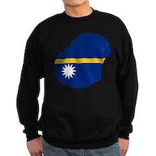 Nauru Flag and Map Sweatshirt