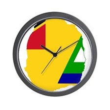 Nevis Flag and Map Wall Clock