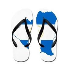 Nicaragua Flag and Map Flip Flops