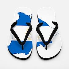 Nicaragua Flag and Map Flip Flops