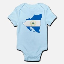 Nicaragua Flag and Map Infant Bodysuit
