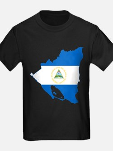 Nicaragua Flag and Map T