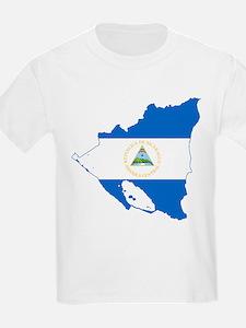 Nicaragua Flag and Map T-Shirt