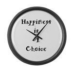 Happiness is A Choice Large Wall Clock