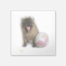 "Cairn Terrier Soccer Square Sticker 3"" x 3"""