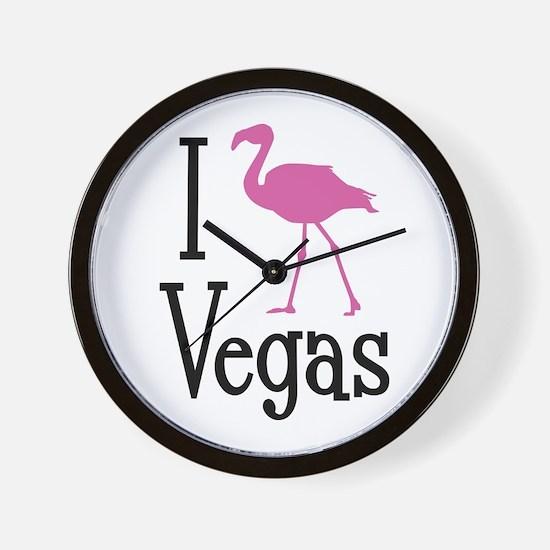 I Love Vegas Wall Clock