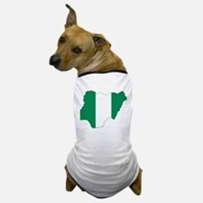 Nigeria Flag and Map Dog T-Shirt