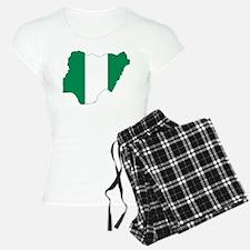 Nigeria Flag and Map Pajamas
