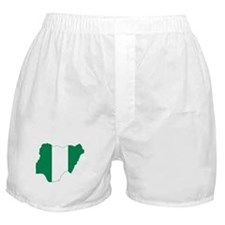 Nigeria Flag and Map Boxer Shorts