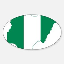 Nigeria Flag and Map Decal